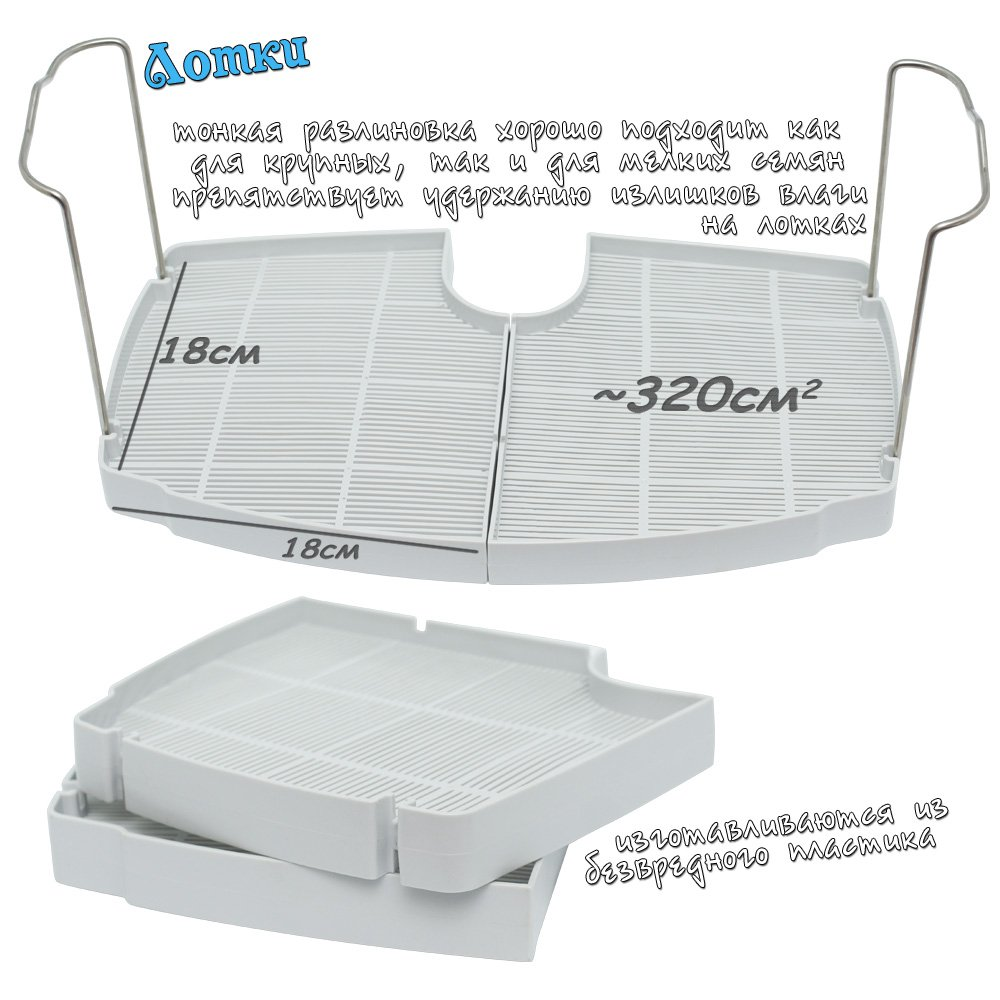 Комплект лотков RAWMID к микроферме Dream Sprouter