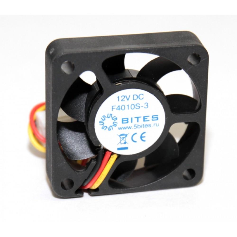 Вентилятор 5bites F4010S-3, 40 mm, 5500rpm, 22dBa, 3 pin, h=10mm, подшипник скольжения (OEM)